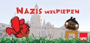 Eine Plakataktion der SPD Dresden