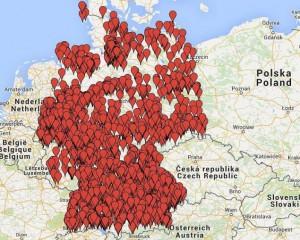 Orignalbildunterschrift: Verteilung von Flüchtlingen auf Deutschland.